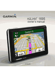 The cover of Garmin nüLink! 1695 LIVE GPS Owner's Manual