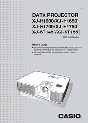 The cover of Casio XJ-H1600, XJ-H1650, XJ-H1700, XJ-H1750, XJ-ST145, XJ-ST155 Projectors User Guide