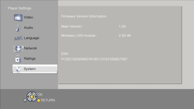 Panasonic Blu-ray Disc Player Firmware Update Instruction