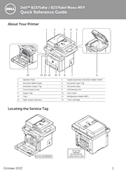 The cover of Dell B2375dfw, B2375dnf Mono Multifunction Printer Quick Reference Guide