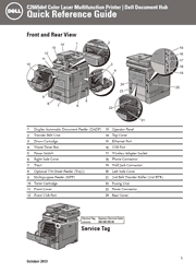 The cover of Dell C2665dnf Color Laser Printer Quick Reference Guide