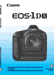 The cover of Canon EOS-1D X Digital SLR Camera Instruction Manual