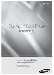 The cover of Samsung BD-J7500 Blu-ray Disc Player User Manual