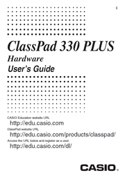 The cover of Casio ClassPad 330 PLUS Calculator Hardware User Guide
