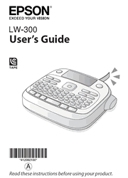 The cover of Epson LabelWorks LW-300 Label Printer User Guide