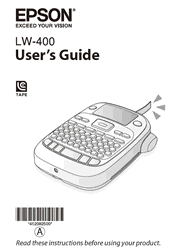 The cover of Epson LabelWorks LW-400 Label Printer User Guide